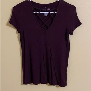 Short sleeve with chest cut out